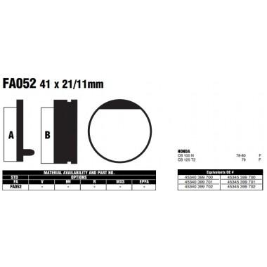 PASTILLAS FRENO EBC FA052