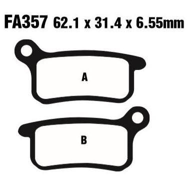PASTILLAS FRENO EBC FA357R