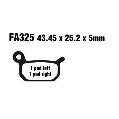 PASTILLAS FRENO EBC FA325R