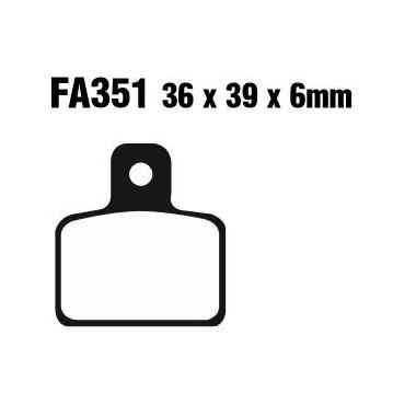 PASTILLAS FRENO EBC FA351TT
