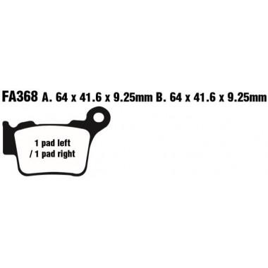 PASTILLAS FRENO EBC FA368TT